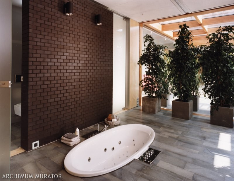 Klinkier w salonie kąpielowym