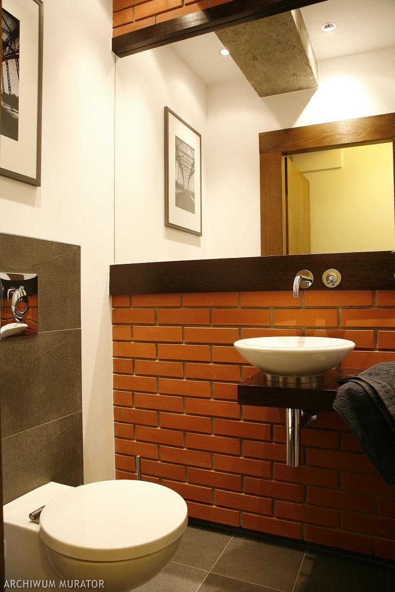Cegła klinkierowa w łazience