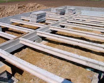Fundamenty pod prefabrykaty betonowo-drewniane