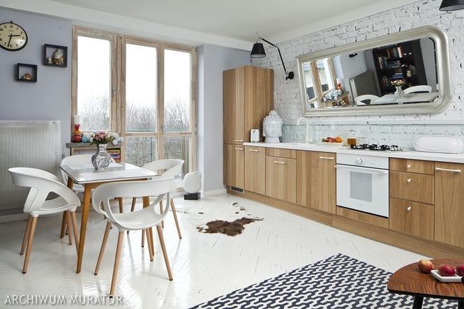 Cegła w kuchni 10 pomysłów na wykończenie ściany w kuchni  -> Urządzanie Kuchni Z Jadalnią