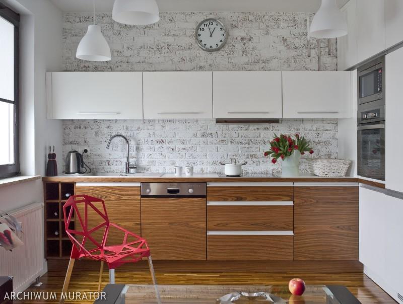 Galeria zdjęć  Cegła w kuchni 10 pomysłów na wykończenie   -> Kuchnia Tapeta Cegla