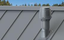 Czerpnia i wyrzut powietrza na dachu dla skutecznego działania rekuperacji