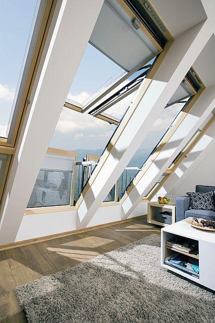 Okna dachowe balkonowe
