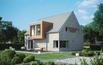 Dom bezokapowy wykończony klinkierem i drewnem