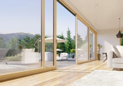 Duże okna pionowe. Spraw, aby Twój dom był otwarty na ogród
