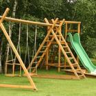 Ogród z placem zabaw dla dzieci. Przydomowy plac zabaw w ogrodzie